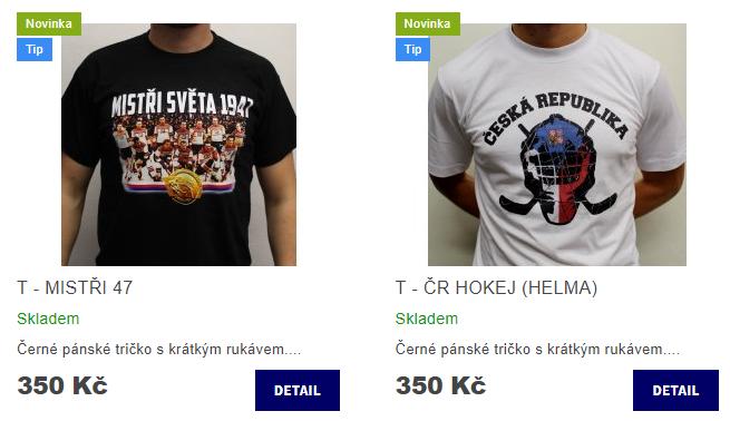 Na Eshop jsme přidali dvě nová trička! - Hockey Factory 4f920b3f17